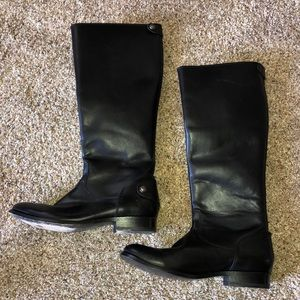 Frye Women's Melissa Black Leather Tall Boots